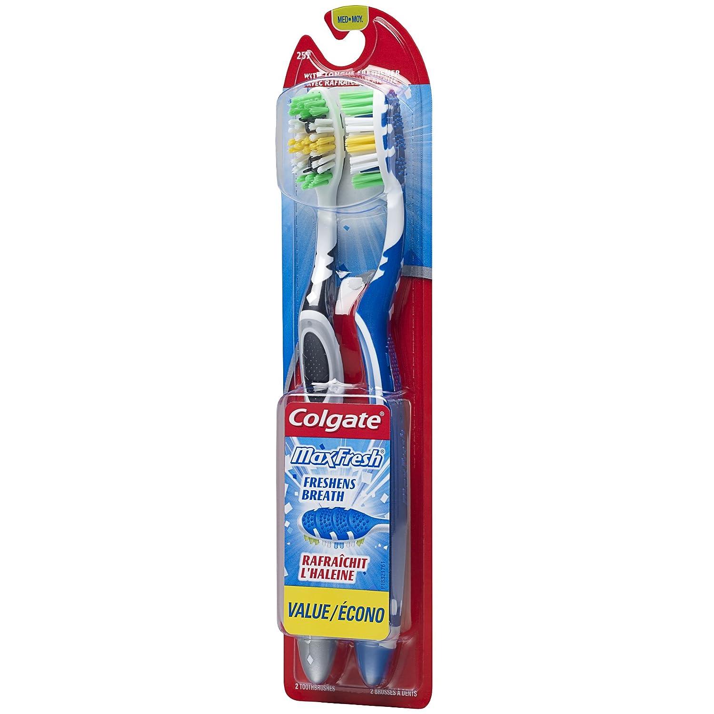 Colgate Max Fresh Full Head - Cepillo de dientes para adultos, tamaño mediano, 2 unidades: Amazon.es: Industria, empresas y ciencia