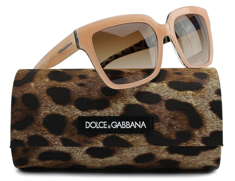 20a14c13df72 Amazon.com  Dolce   Gabbana DG4234 Sunglasses Shiny Beige Leo w Brown  Gradient (2886 13) DG 4234 288613 57mm Authentic  Clothing