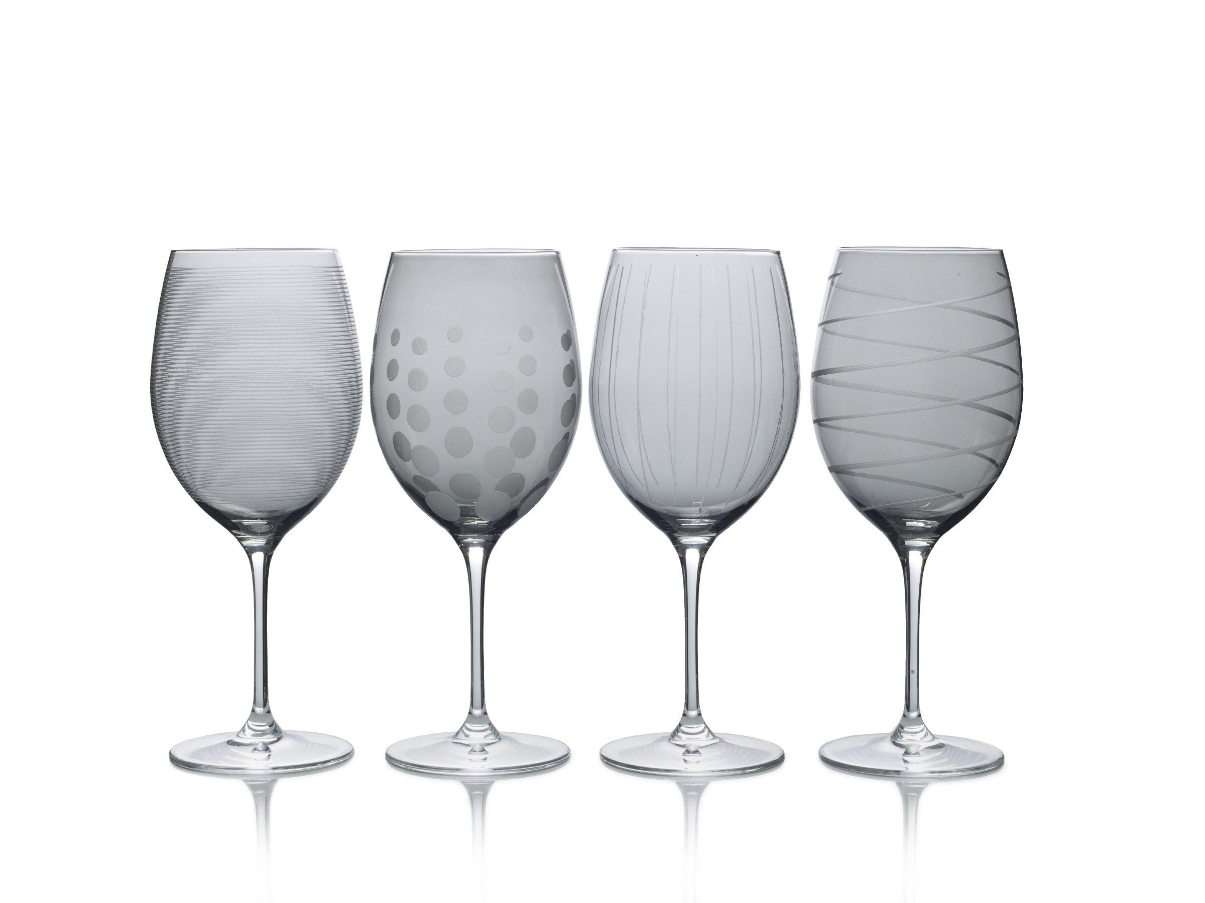 Mikasa Cheers Smoke Wine Glass, 24-Ounce, Set of 4