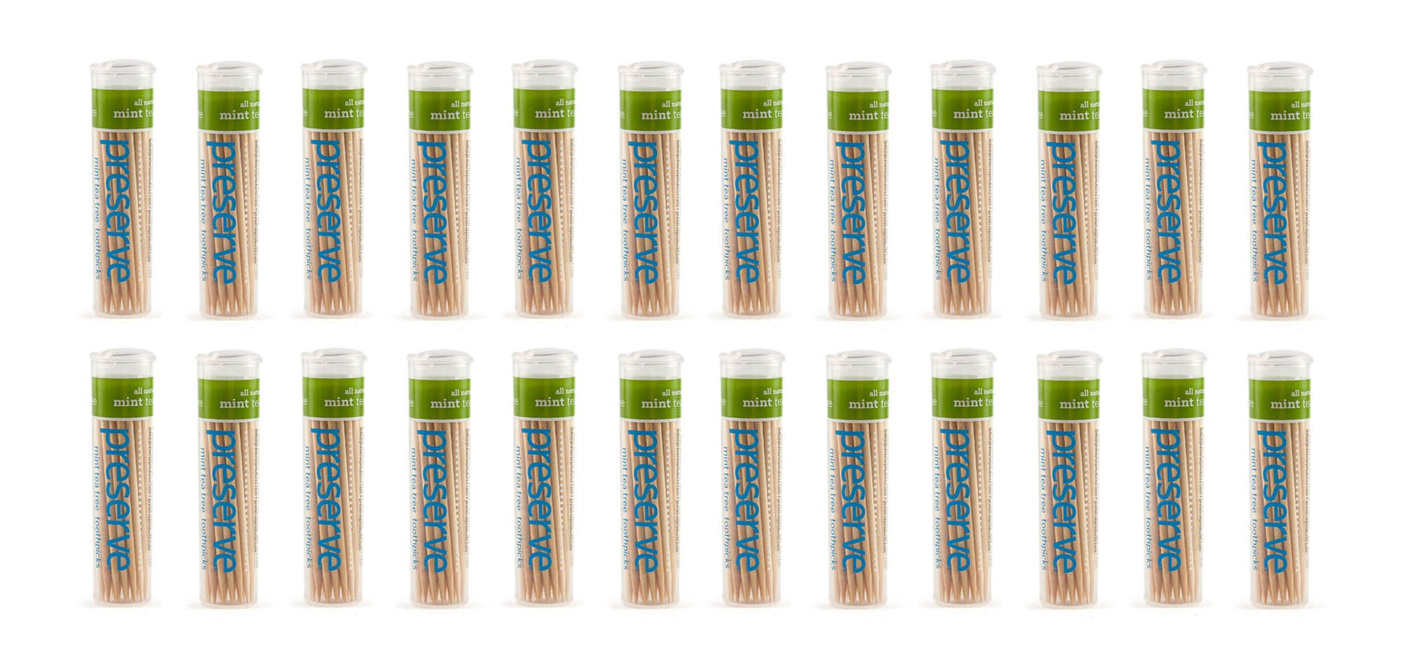 Preserve Toothpicks, Mint Tea Tree, 24 canisters