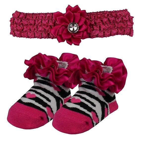 Diamante de la venda y de la cebra del calcetín Lote - 4 colores / tama - Fushia: Amazon.es: Ropa y accesorios