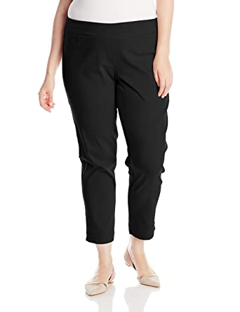 fa1365c8d12ce SLIM-SATION Women's Plus-Size Wide Band Pull On Ankle Pant with Tummy  Control