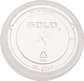 product image for SOLO Cup Company Ultra Clear Flat Cold Cup Lids, Pet, 300 Piece