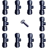 """1/4"""" Slip-Lok Misting Nozzle Tees W/ Plug for Patio Cooling System 10/24 UNC"""