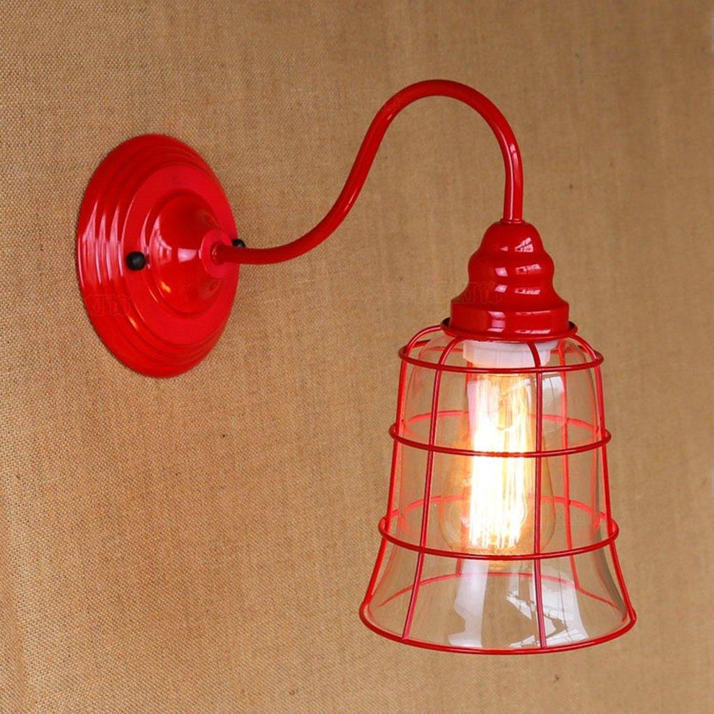 Wandleuchte lampe Wandleuchte - Rot Elegant Retro Wandleuchte Idyllisch Wohnzimmer Esszimmer Bar Dekoriert Wandleuchte