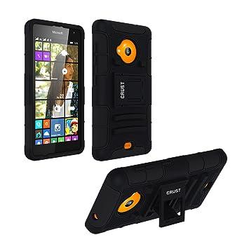 wholesale dealer 66ee4 e6b36 Lumia 535 Cover, CRUST™ Armor Case For Microsoft Lumia 535 Dual SIM, Nokia  Lumia 535 Shock Proof High Impact Kick Stand Dual Layer Hard/Soft Back ...