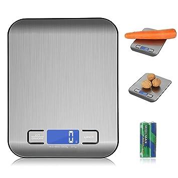 Küchenwaage Digitalwaage 5kg Edelstahl, Flach Klein Elektrisch Profi, Küche  Mini Feinwaage Smart Wasserdicht,