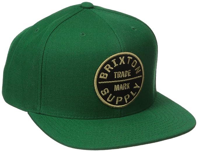 83af02ecc022 ... best price brixton mens oath iii adjustable snapback hunter green one  size 72a77 c5a33 new zealand brixton hats ...