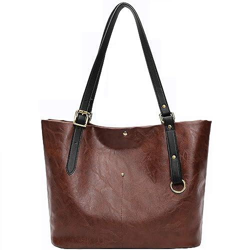 68407b3da4194 TEAMWIN Leder Handtaschen für Frauen Frauen Tote Handtaschen Große Taschen  Pu-leder Schulter Einkaufstasche Weiche
