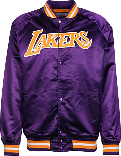 Mitchell & Ness NBA Satin LA Lakers Chaqueta universitaria ...