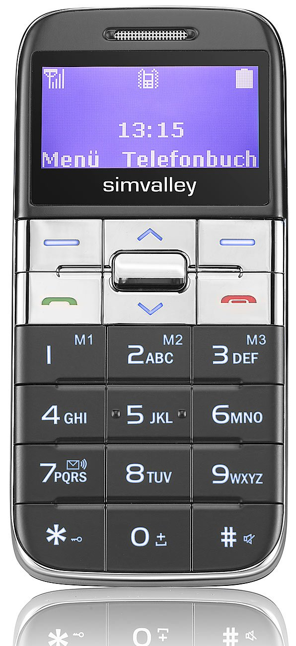 T�l�phone GSM SIMVALLEY PX3365 GRIS