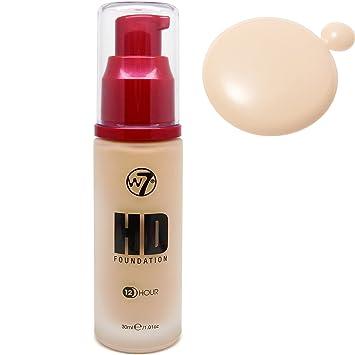 58d575e0819 W7 HD 12 Hour Pump Foundation-True Beige-30ml-new: Amazon.co.uk: Beauty