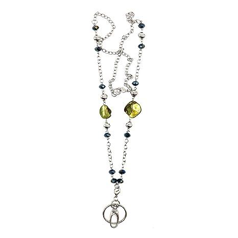 Amazon.com: Cordón para llavero, collar con abalorios, plata ...