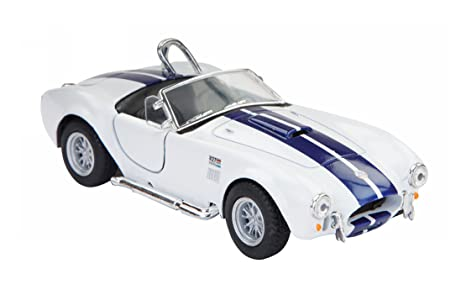 Jack Royal 1965 Shelby Cobra 427S.C Metal Die Cast Car  White  Toy Vehicle Playsets