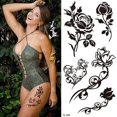 Handaxian 3pcsFemale Tattoo Sticker Body Art Tatuaje Impermeable ...