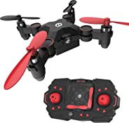Holy Stone HS190 Foldable Mini Nano RC Drone for Kids Gift Portable Pocket Quadcopter with Altitude Hold 3D Flips and Headle