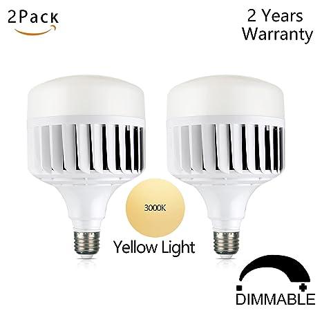 Canya De alta potencia 50 W Bombilla LED E26 Base LED luz Pack de 2