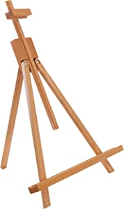 "U.S. Art Supply Topanga 31"" High Tabletop Wood Folding A-Frame Artist Studio Easel - Adjustable Beechwood Tripod Display Stand, Holds Up to 27"" Canvas - Portable Table Desktop Painting Picture Holder"