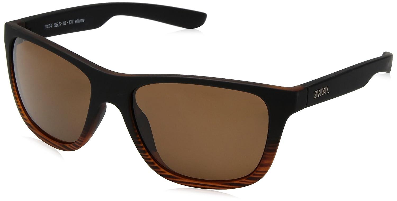 7265b938b5 Zeal Optics Unisex Radium Torched Woodgrain W  Polarized Copper Lens  Sunglasses  Amazon.in  Clothing   Accessories