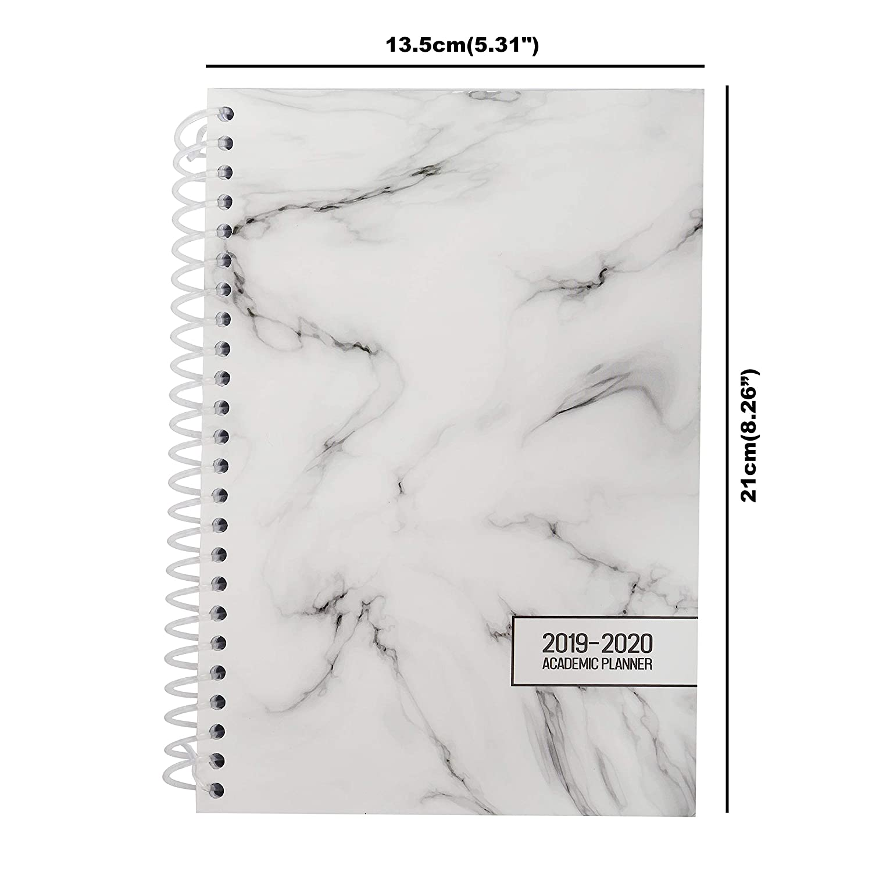 Agenda 2019 (Julio 2019 - Julio 2020)- 21 x 13,5cm Planificador Académico - Anual Mensual Semanal y Diario - Agenda en Espiral, Lista de Trabajo ...