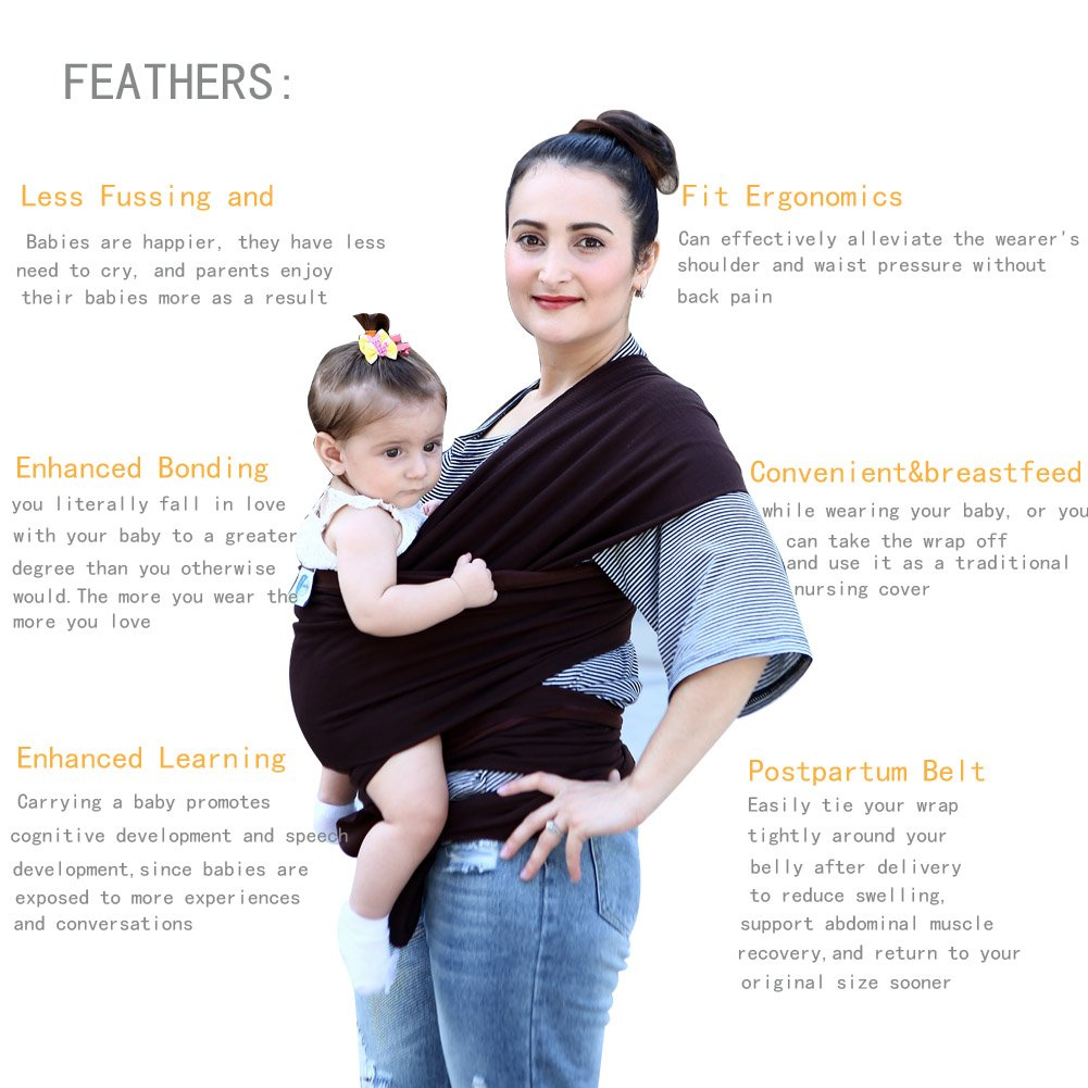 Amazon Com Baby Wrap Baby Sling Soft Lightweight Comfortable Baby