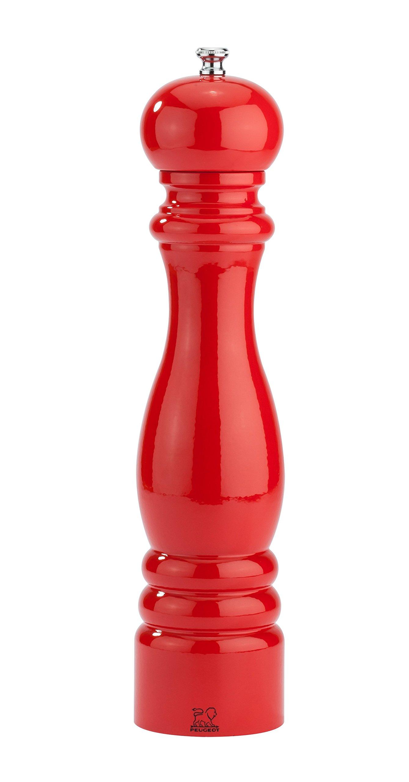 Peugeot 31077 Paris Classic Salt Mill, 12'', Poppy Red