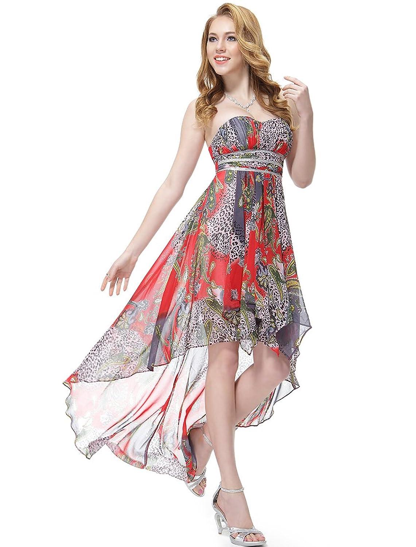 Ever Pretty Damen High Low Empire Fashion Cocktail Partykleid 06091 ...