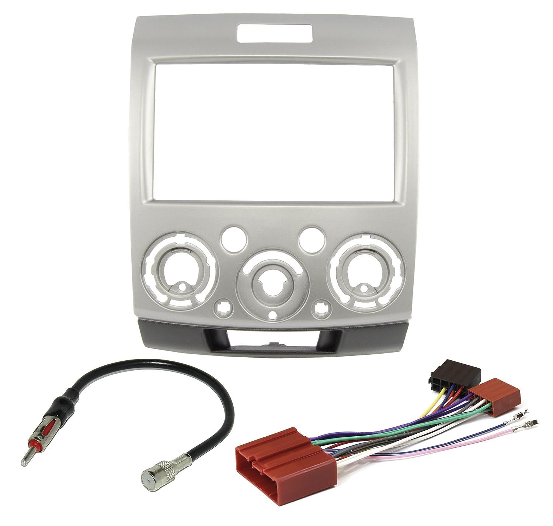 Adapter Radio Antenne KG Radio Einbauset f/ür Ford Ranger Mazda BT-50 ab 2006 Doppel DIN Radioblende Watermark Vertriebs GmbH /& Co