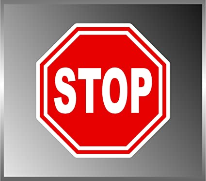 Stop sign sticker street signs vinyl decal 5