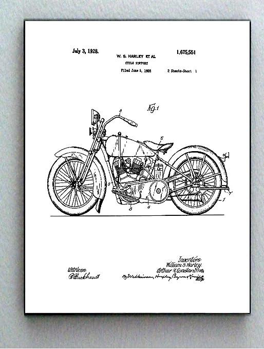 Amazon.com: Framed 8.5 X 11 Harley Davidson Motorcycle Original Patent  Diagram Plans: Posters & PrintsAmazon.com