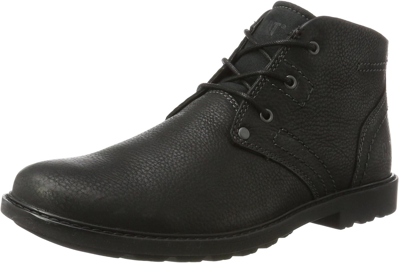 CAT Lifestyle Mens Carsen Mid Pebble Lace Up Boot Black Size UK 9 EU 43