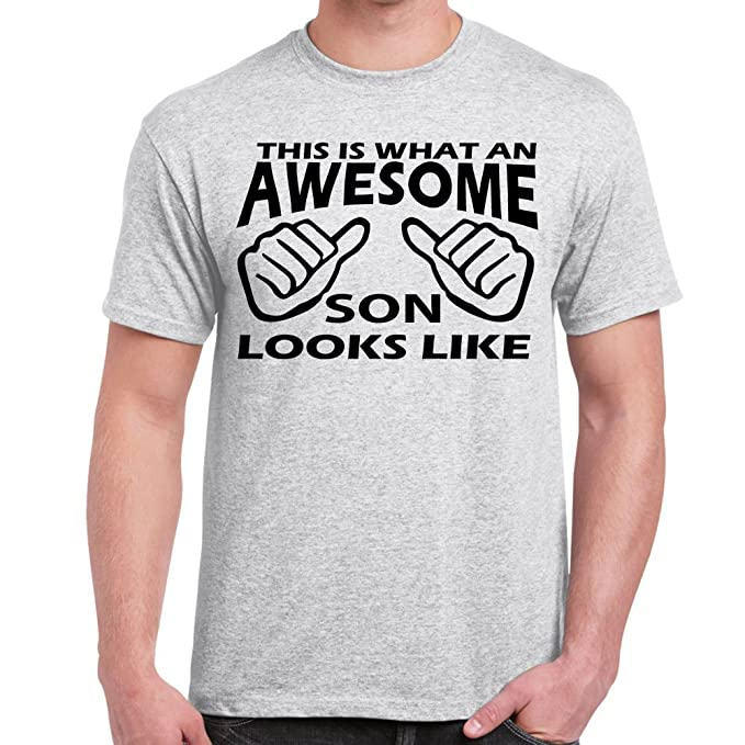 d7f3c7f2f Image Unavailable. Image not available for. Color: Starlite-Mens Funny  Tshirts-Awesome SON Looks Like T-Shirts-funny gifts