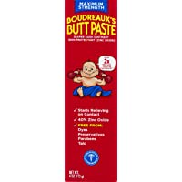 Boudreaux's Butt Paste Diaper Rash Ointment | Maximum Strength | 4 Ounce (Pack of 1) Tube | Paraben & Preservative Free