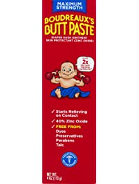 Boudreaux's Butt Paste Diaper Rash Ointment | Maximum Strength | 4 Oz