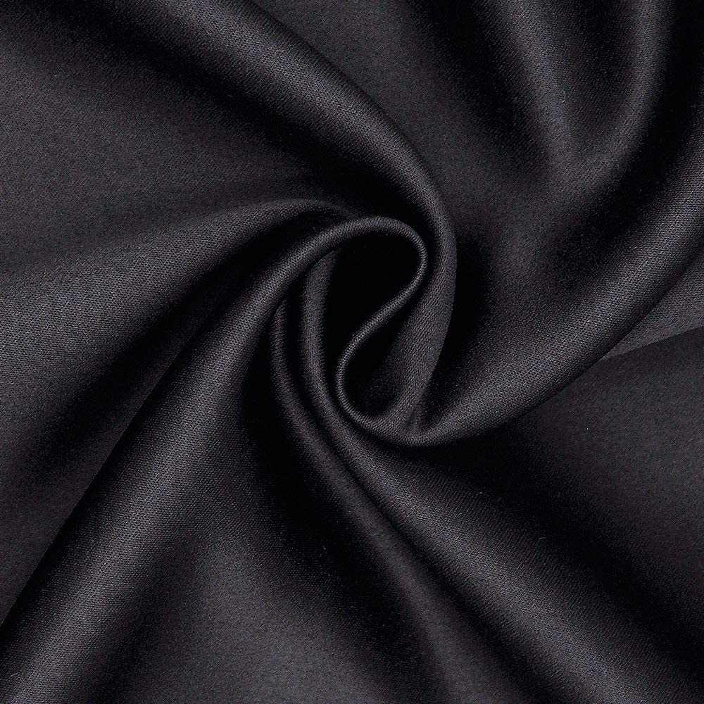 Satin Cooling Pillow Covers with Hidden Zipper Silky Satin Pillowcase 2 Packs for Hair and Skin Standard Size 20x26 Black