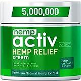 HEMPACTIV Hemp Pain Relief Cream   Hemp + MSM + Arnica + Menthol   Relieve Muscle, Joint & Arthritis Pain   Effective…