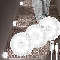 Sensor Light 3 Pack 8 Leds ,H HOME-MART LED Motion Sensor Light Indoor Wireless LED Closet Lights , USB Rechargable…