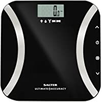 Salter Ultimate Accuracy Digital Analyser Scales - Measure 50g Increments, Step-On Instant Reading of Weight, Body Fat…