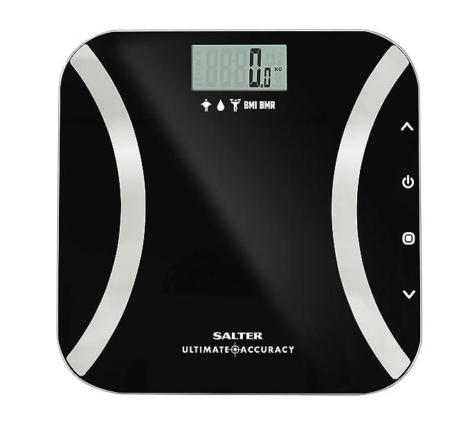 Báscula de baño analítica, memoria para 12 usuarios, peso en incrementos de 50 g, modo atleta, garantía de 15 años, negro: Amazon.es: Salud y cuidado ...