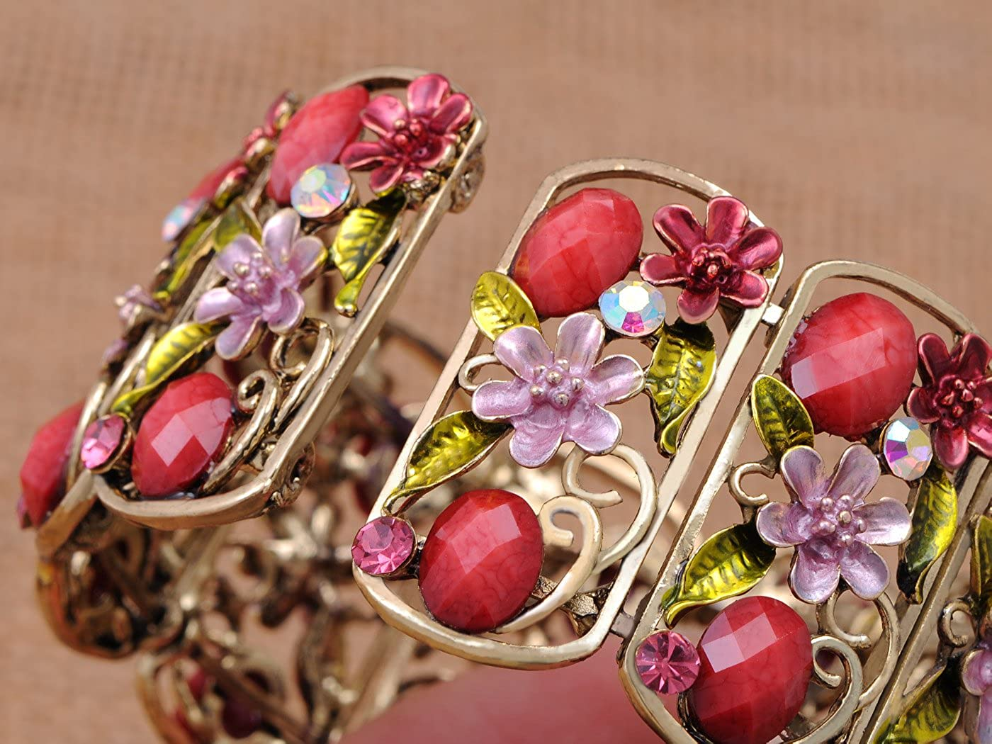 Fashion Jewelry Strong-Willed Purple And Silver Tone Fashion Stretch Bracelet To Have A Long Historical Standing