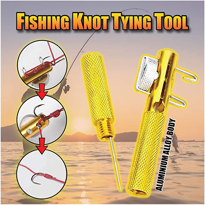 2PCs Hook Loop Tyer//Disgorger Tie Nail Knot Tying Tool Tackle Fly Fishing H WKSP