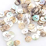 FACILLA® Lot 100 Perles Boutons en Nacre Coquillage Ronde 8mm