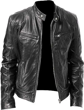 Rider Brown Men/'s Biker Racer Style Designer Real Soft Cowhide Leather Jacket