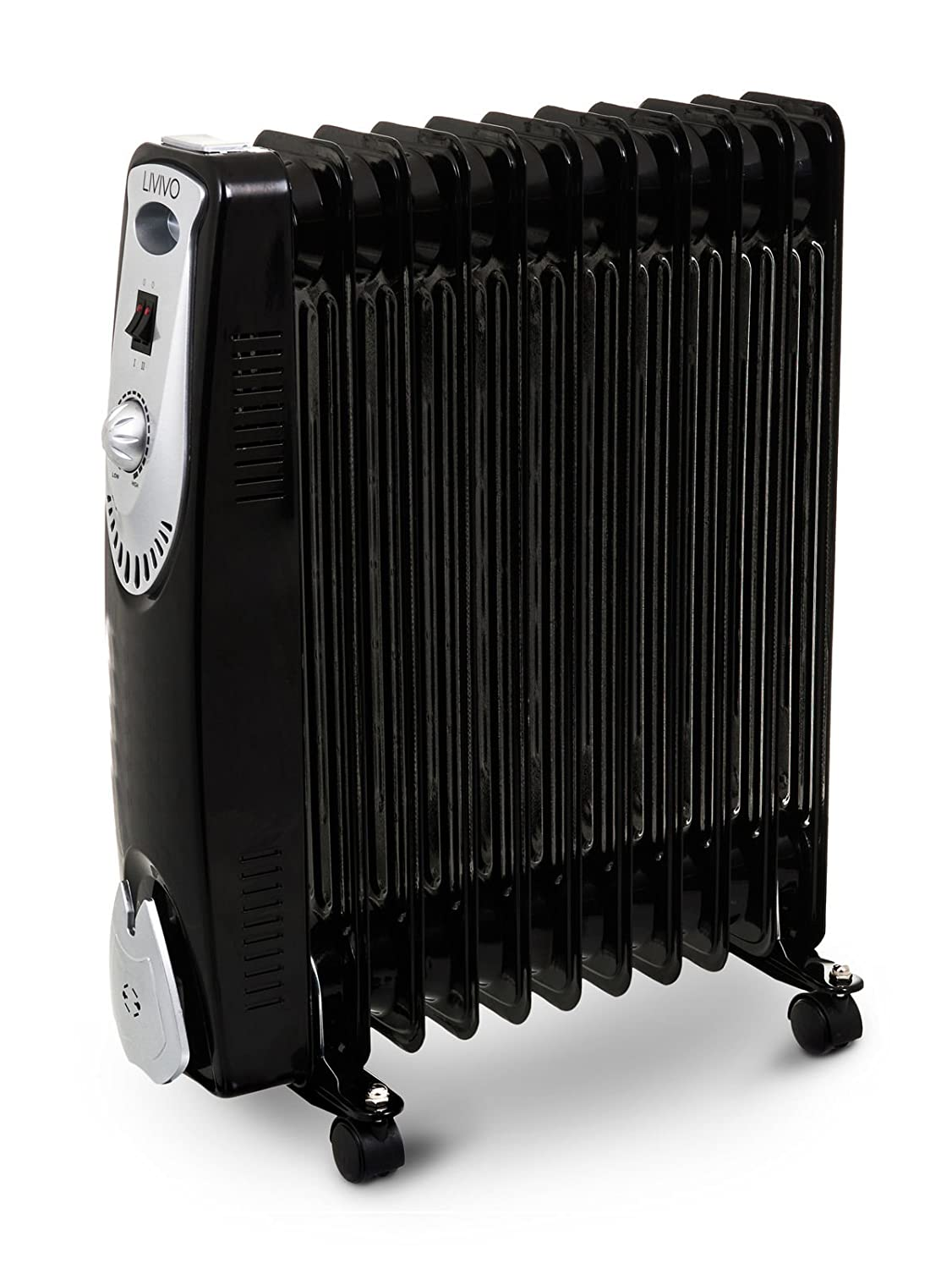 FiNeWaY@ 9 FIN 2KW PORTABLE ELECTRIC OIL FILLED RADIATOR HEATER 2000W 3 HEAT SETTINGS