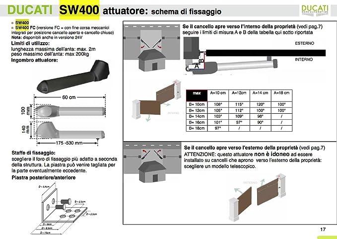 Motorizaciòn para puerta batiente 1 hoja SW3000 Mono: Amazon.es: Bricolaje y herramientas