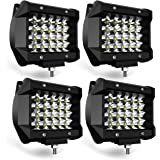 TURBO SII LED Pods Light Bar 4 Inch 72w Driving Fog Off Road Lights Quad Row Waterproof Spot Beam LED Cubes Lights for…