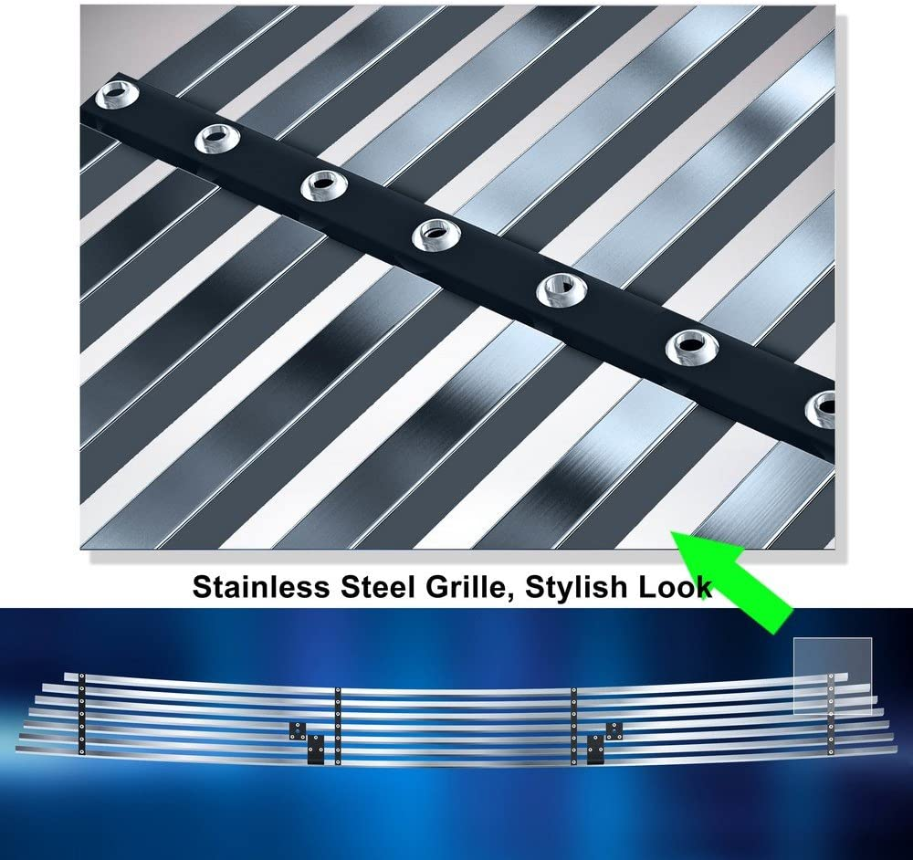 Off Roader Stainless Steel eGrille Billet Grille Grill for 2005-2018 Frontier//05-07 Pathfinder Bumper Insert