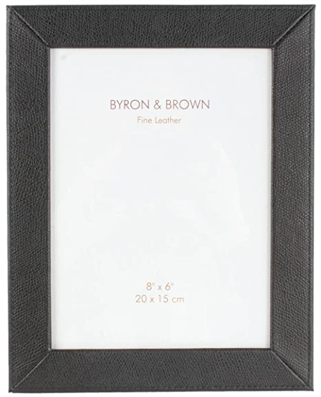 Byron and Brown Womens Florence Slim Classic Leather Photo Frame 8x6 ...