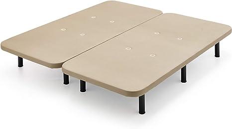 Base Tapizada Con Tejido 3D Y Válvulas De Transpiración + 8 Patas 32cm (160x200cm) (2 Bases De 80cm Con Abrazaderas)