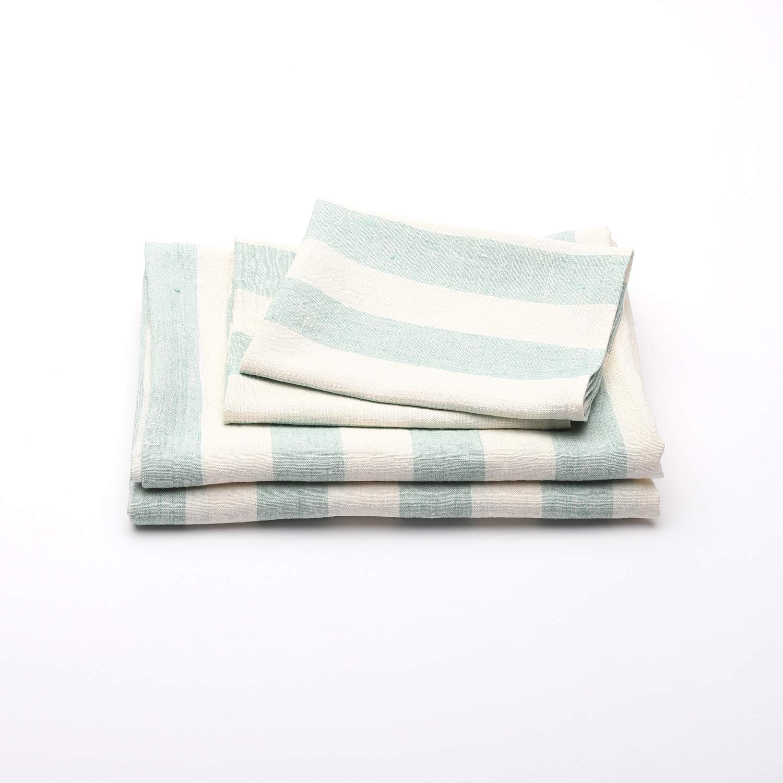 Amazon Com Linen Bath Towels Set Philippe Mint 2 Big Towels And 2